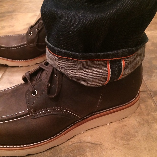 Jean Shop & Chippewa jay sold another pair. #chippewa #originalchippewa #jeanshop #orangeselvedge #selvedge #japaneseselvedge #madeinamerica #madeinusa #denim #fashion #fashionformen #footwear #fashionblog #greattogether #boots