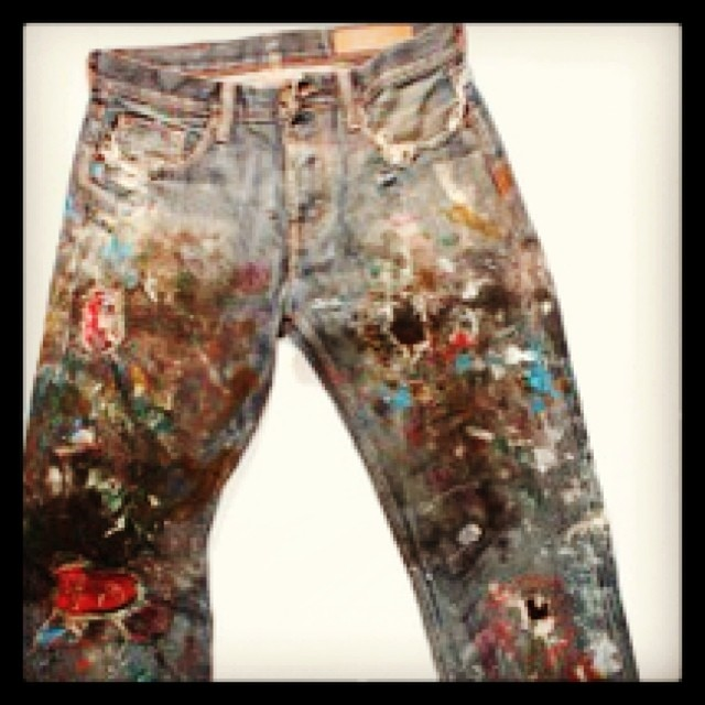 #vintage #fashion #beautiful #denim #jeans #jeanshop #wellworn #madeinamerica #madeinusa #trade #walloffame #paint #hardwork