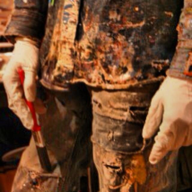 Working hard @jeanshop #handmade #hardwork #jeans #jeanshopny #jeanshop #denimart #fashion #byhand #creative #dyeing #leatherwork #leathercraft #madeinnyc