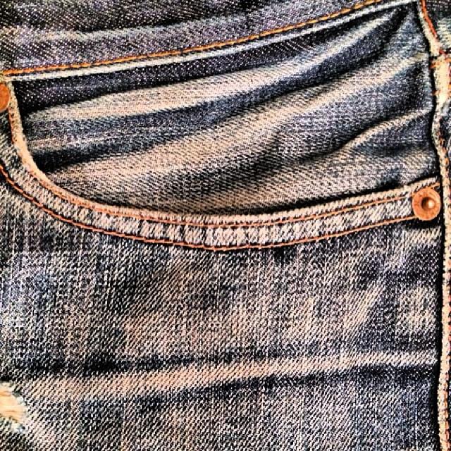 Same jean another shot. No filter. #beautiful #vintage #wellworn #worn #jeans #denim #jeanshop #madeinamerica #madeinusa #stylish #selvedge #details #hardwork #nowash #japaneseselvedge