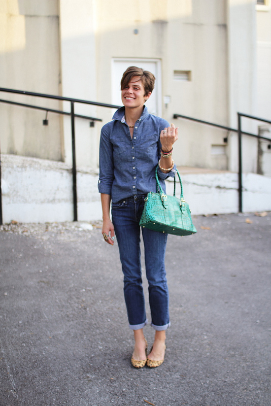 Perfect denim on denim via off of broadway