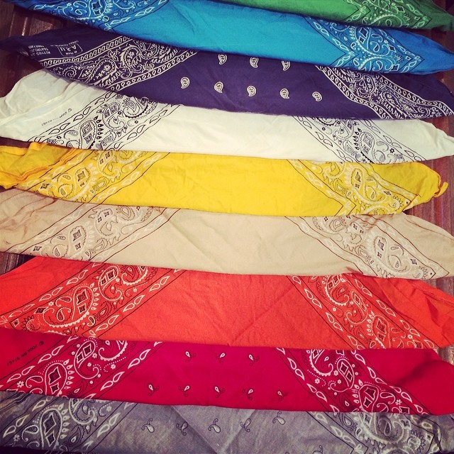 100% cotton bandanas #madeinamerica #madeinusa #jeanshop ##color #cotton