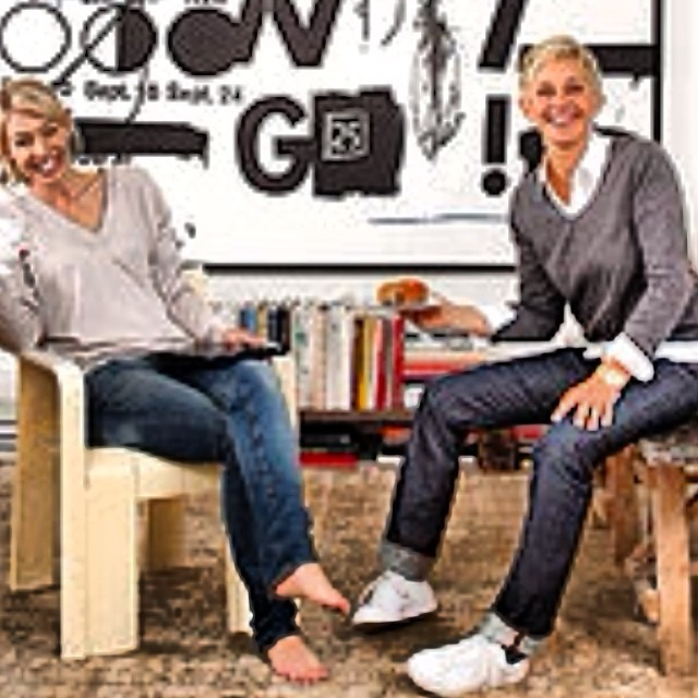 #tbt Ellen in #Jean Shop #selvedge #fashion #ellen #ellenshow #jeans #denim #selvedge