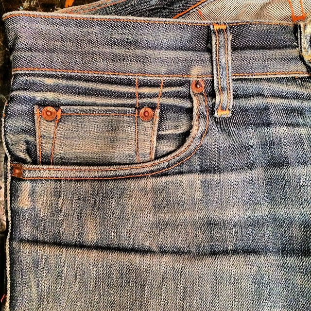 Very well worn #denim #jeans #jeanshop #madeinamerica #madeinusa #vintage #quality #selvedge #selvage #fashion #japaneseselvedge