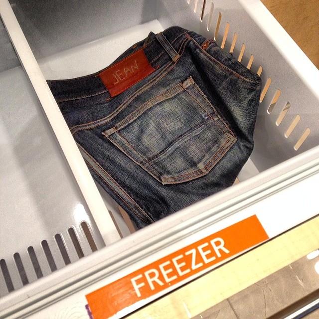 Freezer @colincharles #freezer #jeanshop #jeanshopnyc #jeans #selvage #japaneseselvedge #madeinamerica #madeinusa #wellworn