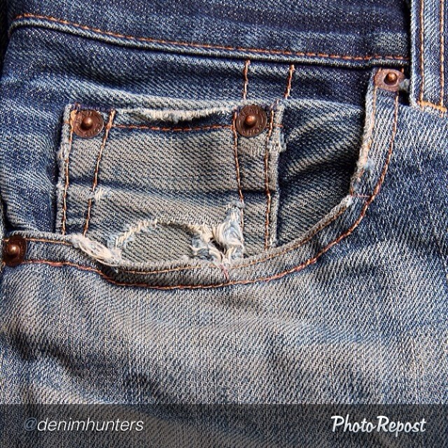 """by @denimhunters """"""""The fade"""" #rawdenim"""" #jeanshop #vintage #wellworn #style #selvedge #indigo #jeans"""
