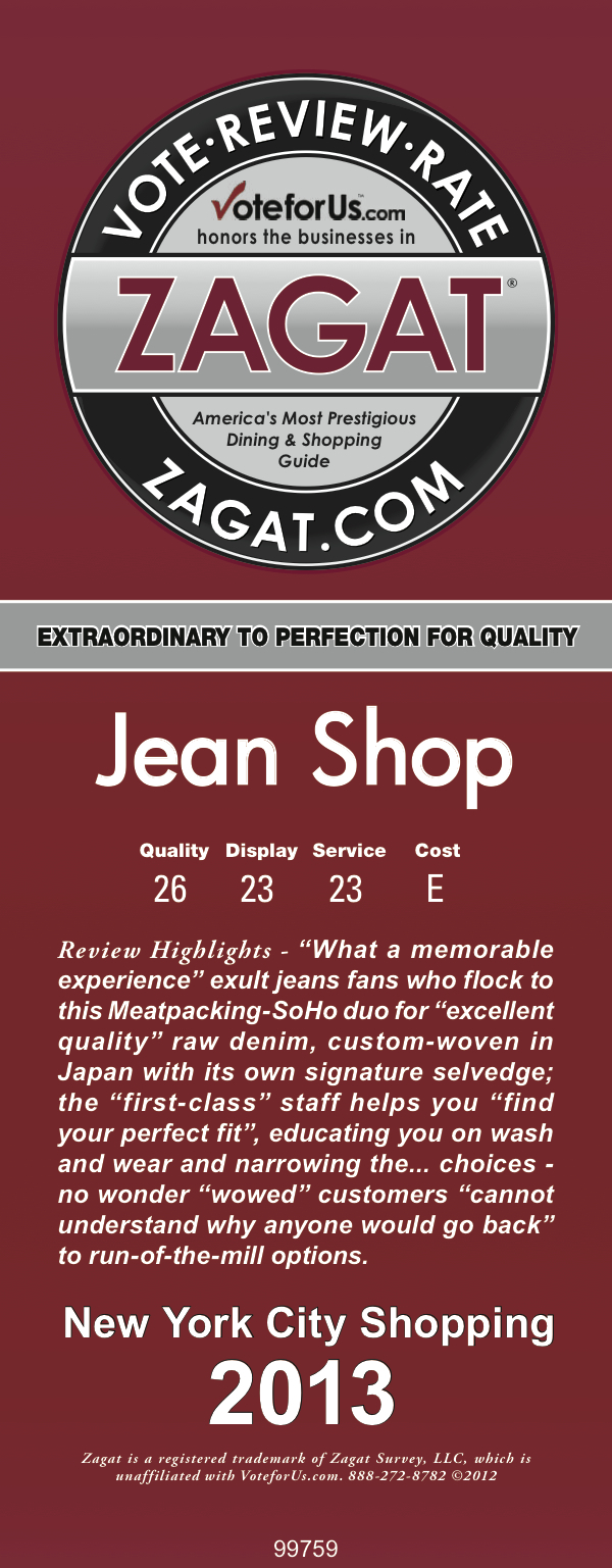 "Please read our 2013 Zagat review. We got the rating of  ""EXTRAORDINARY TO PERFECTION FOR QUALITY""  ""WHAT A MEMORABLE EXPERIENCE"" ""EXCELLENT QUALITY"" ""FIRST CLASS"" STAFF ""FIND YOUR PERFECT FIT"" ""WOWED"" ""CANNOT"" UNDERSTAND WHY ANYBODY WOULD GO BACK"" TO RUN-OF -THE MILL OPTIONS THANKS TO ALL OF OUR CUSTOMERS FOR THE KIND WORDS WE COULD NOT ASK FOR A BETTER REVIEW"