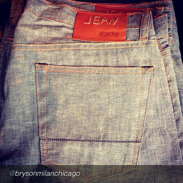 "by @brysonmilanchicago ""Jean Shop light weight chambray jeans 👌 #spring#summer#light #dayparties#vacation#linendenim #jeanshop#quality#brysonmilan"