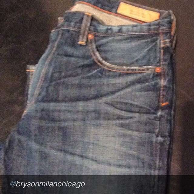 "by @brysonmilanchicago ""Jean Shop #brysonmilan#jeanshop#quality #spring#tallpeople#shop#new"" #rawdenim #madeinusa #orangeselvedge #jeans #jeanshop #vintage #beautiful #greatshot #nicewash"