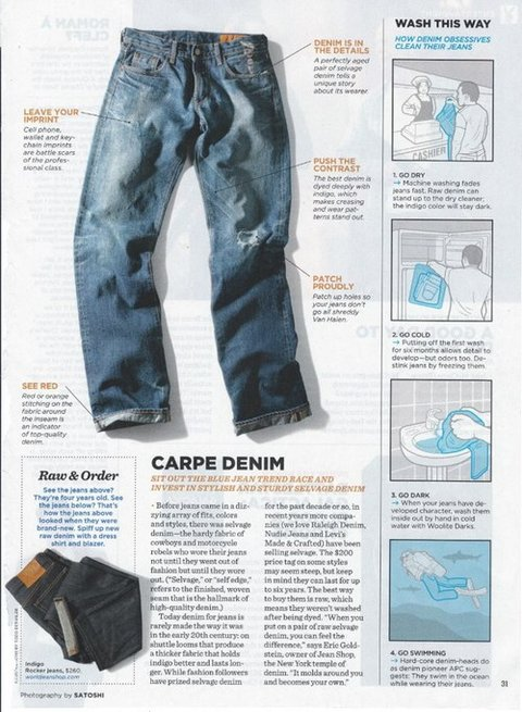 Nice write up on caring for your jeans