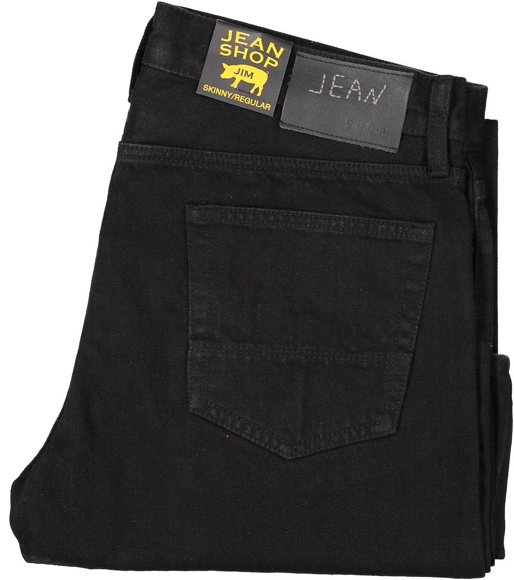 "Jim, Rinsed Jet Black $195 Slim/ skinny fit in 100% Cotton Selvedge Denim. Rinsed for a soft hand, zipper fly. 14"" Bottom Opening"