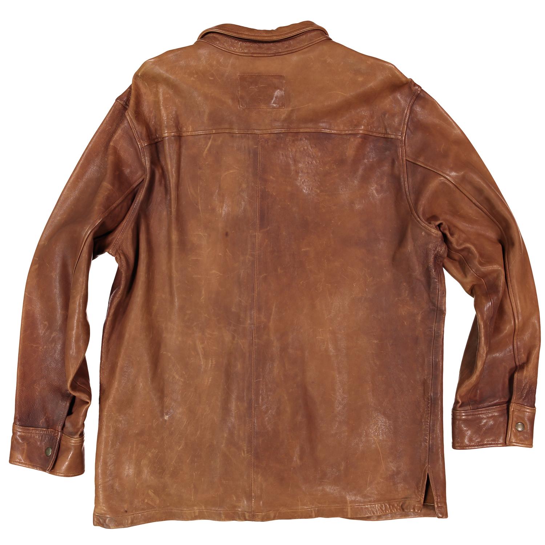 Leather jacket png - Men S Leather Shirt Jacket Brown