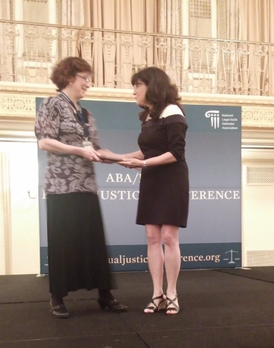 Martha Delaney (L), Deputy Director, Volunteer Lawyers Network