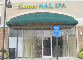 So you won't get confused pictured about is the front of Solace Nail Spa