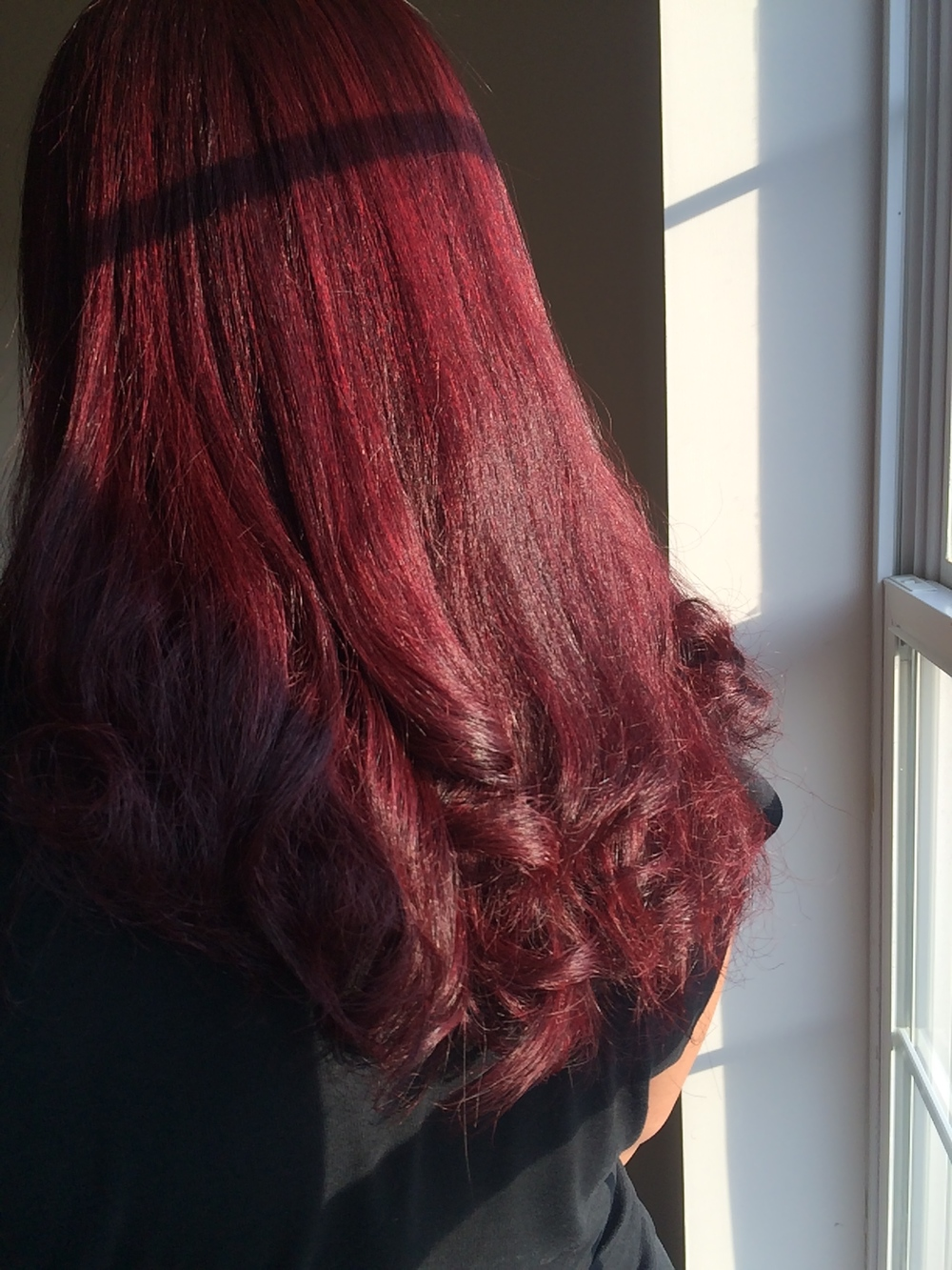 Dark Brown to Level 6 Red