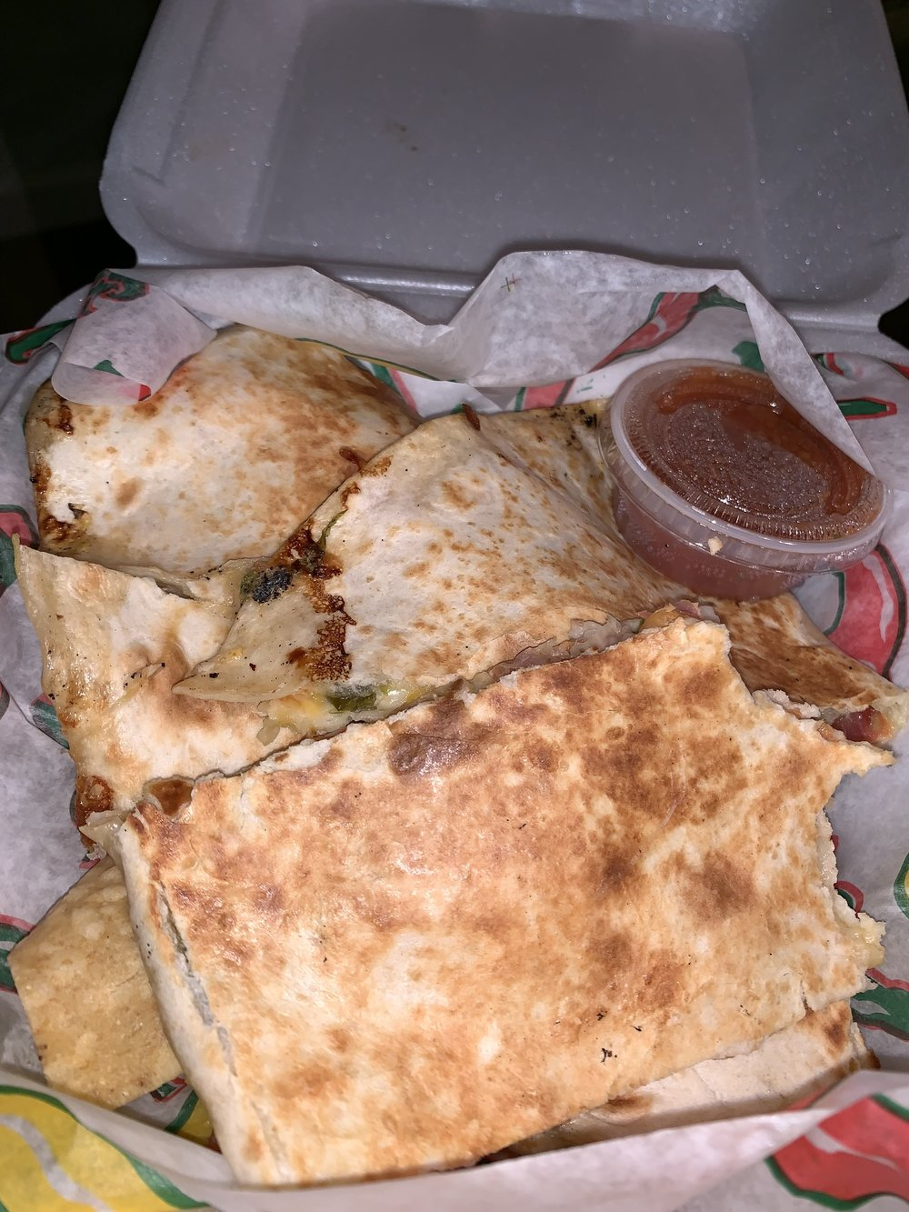Salsa's Mex Grill at Potomac Mills Mall: Veggie Quesadilla : Full of flavor and spicy