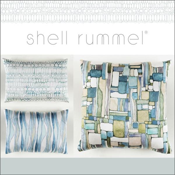 Shell Rummel and Surya Pillows