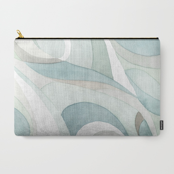 Shell Rummel Society6 Zippered Carry all Pouches