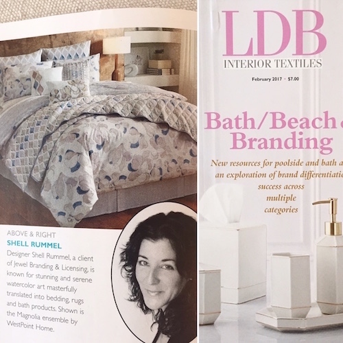 Lovely feature article about the Shell Rummel brand's design vision in LDB Interior Textiles trade magazine. Read More...