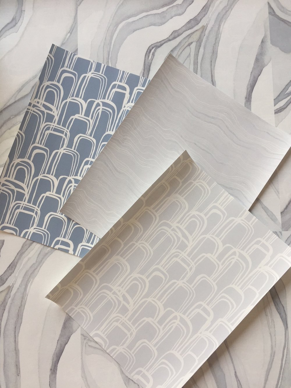 Shell Rummel Studio Collection Wallpaper samples... just the beginning!