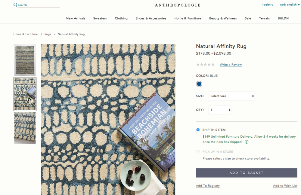 Shell Rummel Natural Affinity rug in Anthropologie