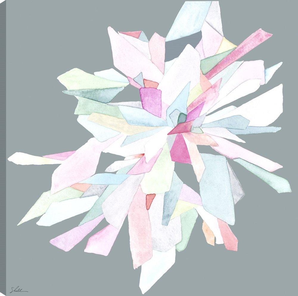 Crystal Bloom 1 on Canvas