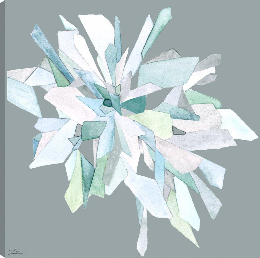 Crystal Bloom 2 on Canvas