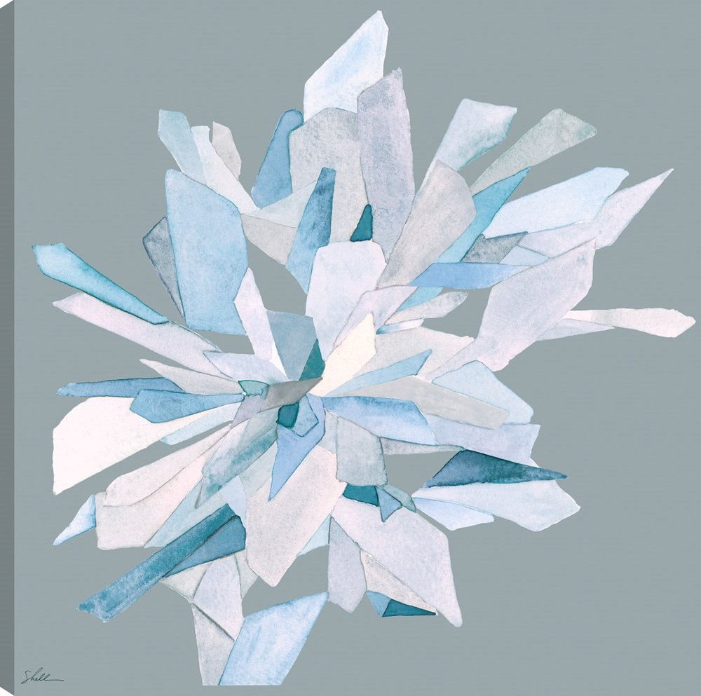 Crystal Bloom 3 on Canvas