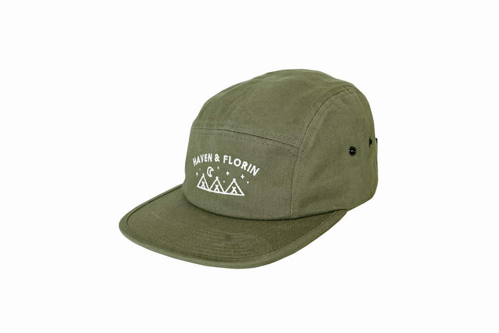 70f1892570563 Happy Camper 5 Panel Hat — Haven   Florin