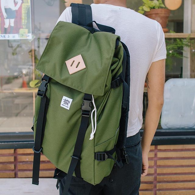 We're sold out of our Navy and Grey Ruckpack, but we've still got a few in Olive Green! Available at havenandflorin.com !