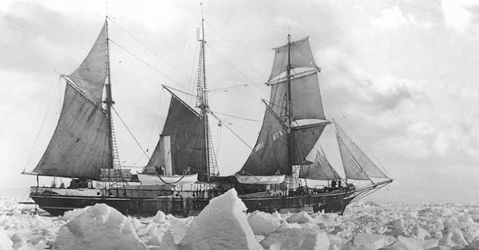 Endurance  in the Antarctic ice.