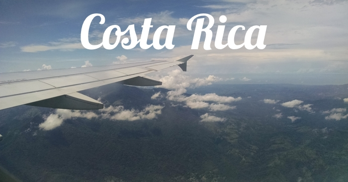 Flying in to Costa Rica.