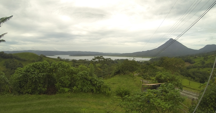 Lake Arenal and Volcán Arenal from Essence Arenal.