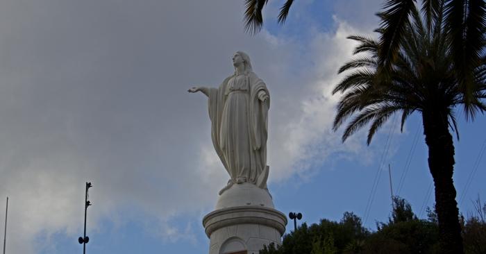 Virgin Mary statue atop Cerro San Cristóbal