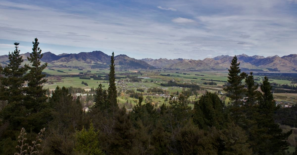 Hanmer Springs from Concial Hill.