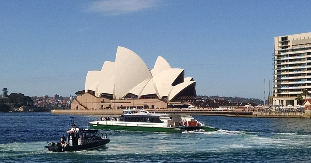 The Opera House from The Rocks.