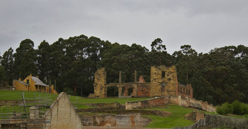 The remains of the Port Arthur prison hospital. You didn't want to get sent here.