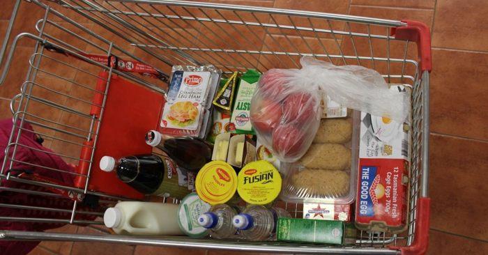 Jackie packs a neat cart.