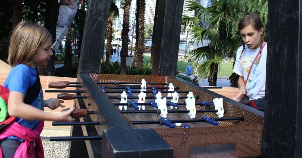 Foosball in The Rocks