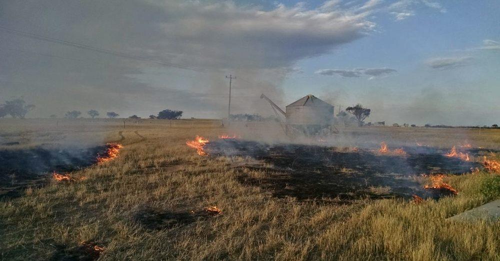 Fire on the farm.