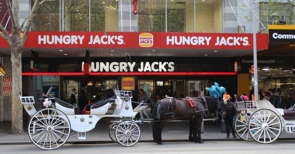 Hungry Jacks, Horses