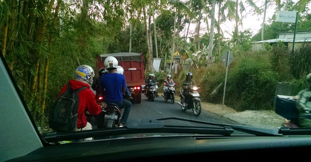 A typical Balinese driving experience.