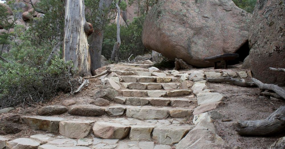 Steps to Wineglass Bay Lookout