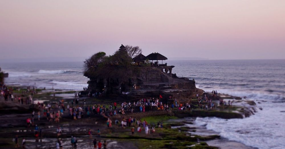 Tanah Lot is popular during sunsets.