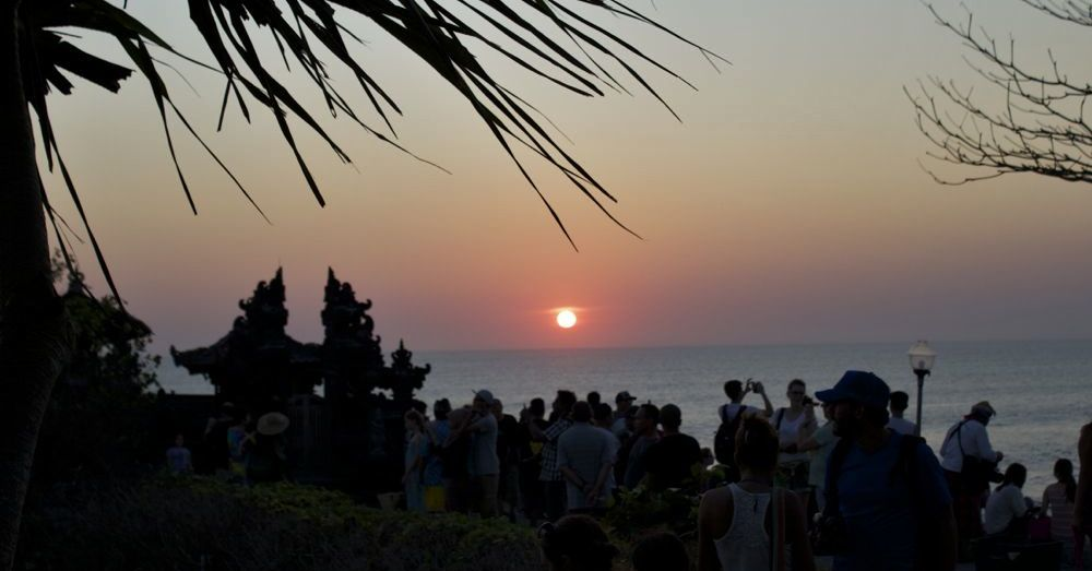Balinese Sunset over the ocean.