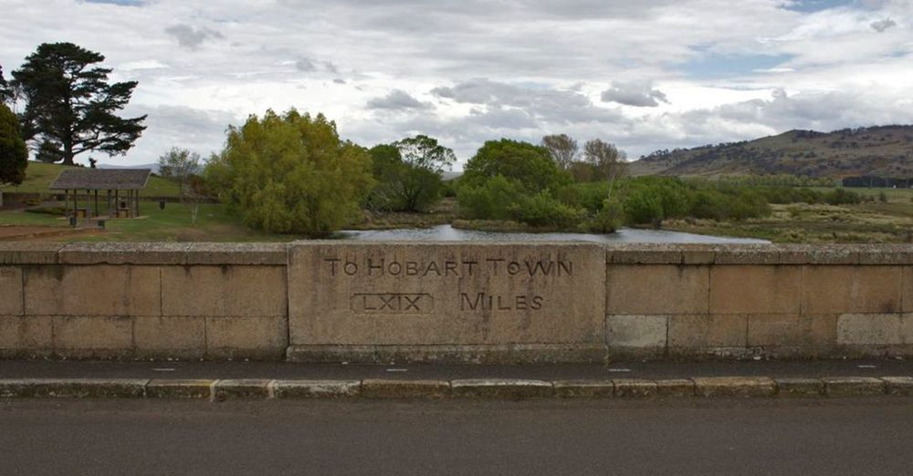 Ross Bridge: 69 Miles to Hobart Town