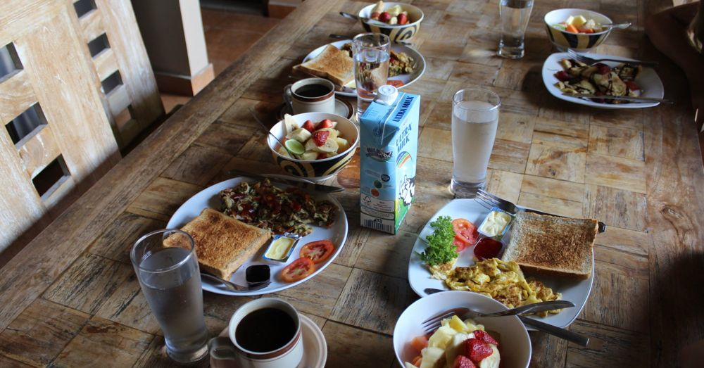 Our typical breakfast in Bali.