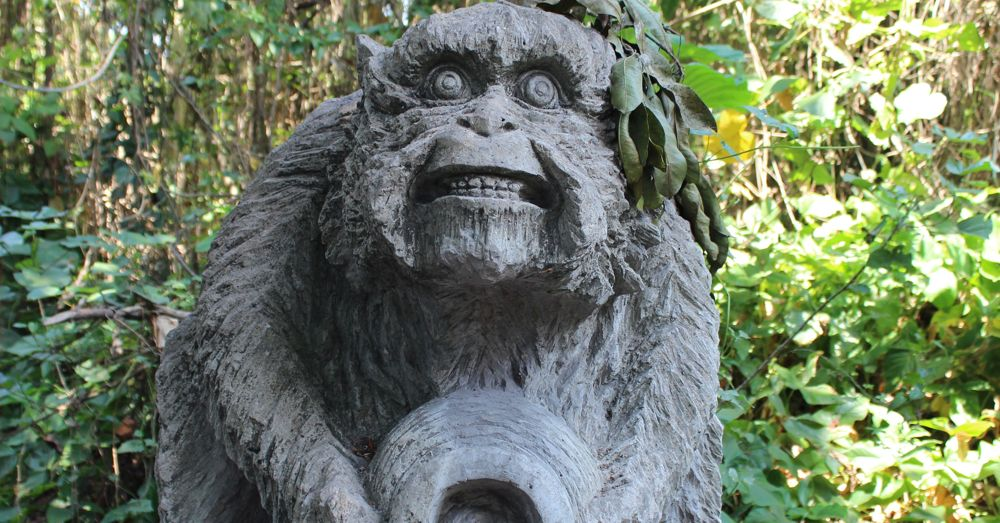 Scary monkey statue.