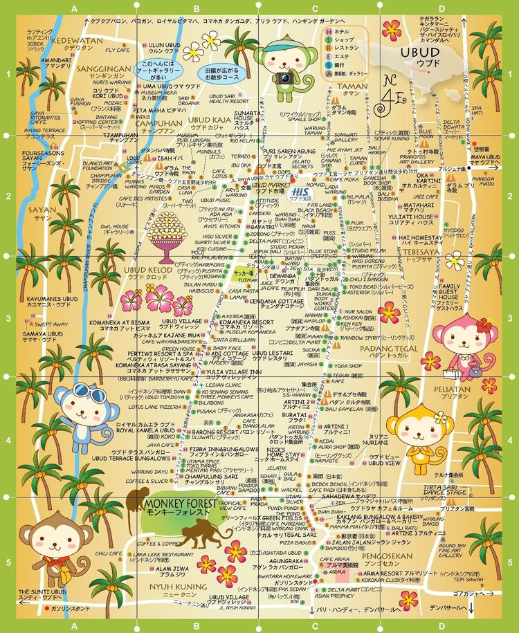 The best ever map of ubud taking on the world map of ubud bali hisg gumiabroncs Gallery