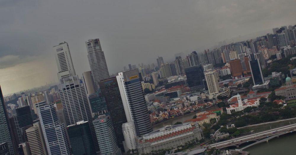 Rains over Singapore